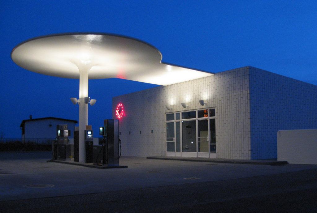 テキサコのガソリンスタンド